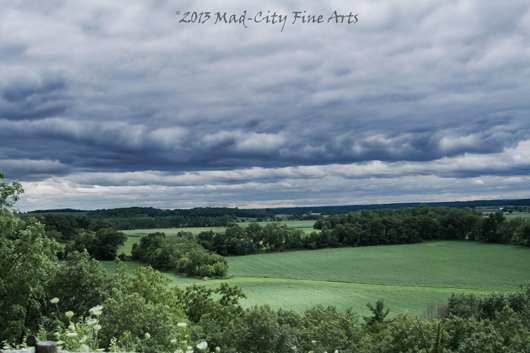 The stunning landscape at Magnolia Bluff county park in Rock County, WI.